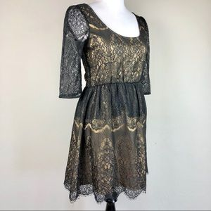 MM Couture by Miss Me Lace and Nude Dress